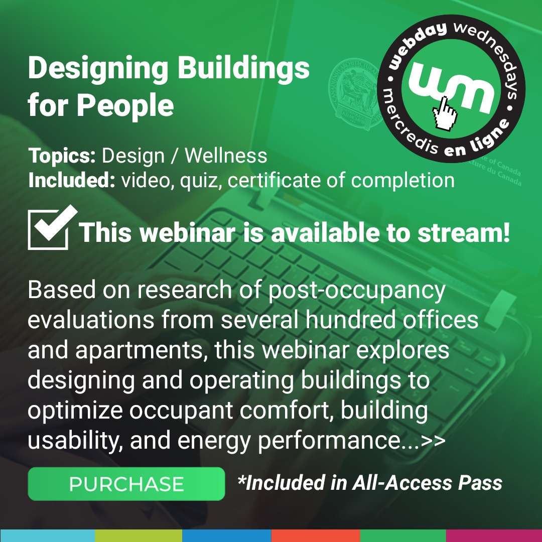 Designing Buildings For People Course Poster