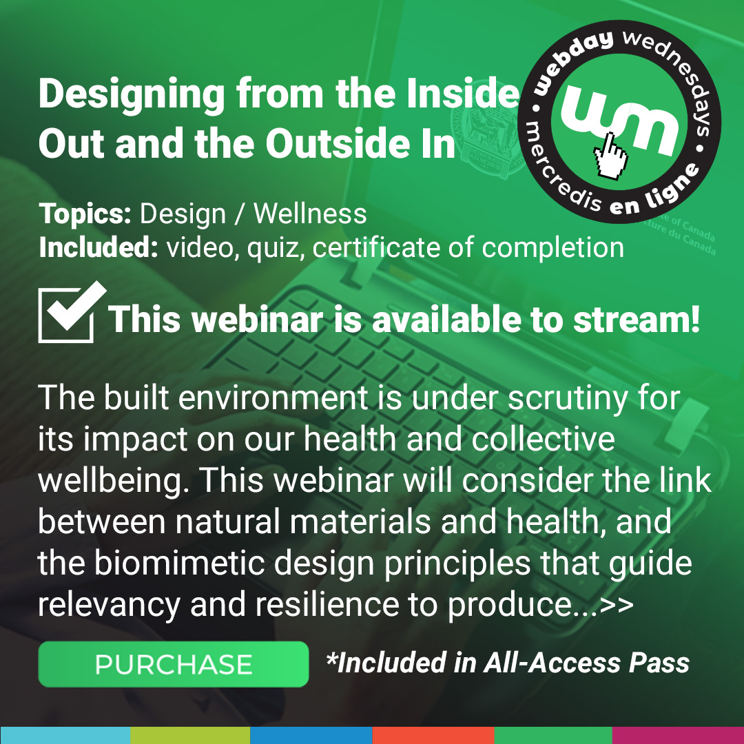 Designing from the inside out and the outside in Course Poster