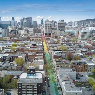 Vue aérienne du projet 18 nuances de gai.