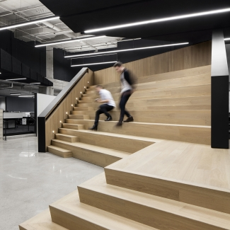 Bensimon Byrne Offices - View of staircase/seating