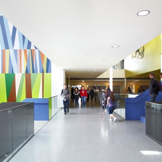 Foundation by Scott Sueme + Michael Rozen at Royal Bay Secondary School