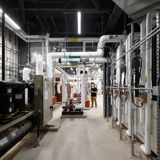 Students at the Joyce Centre learn about the building's operations and how to interpret its energy performance data, so that occupant behaviour and building system performance can be more accurately synchronized.