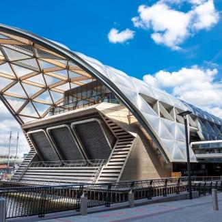 Station du Crossrail et parc