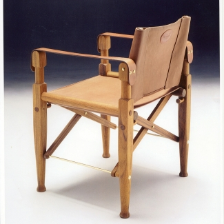 POLO CHAIR FOR PRINCE CHARLES' 40TH BIRTHDAY AND GALEN WESTON'S POLO TEAM. DESIGNED AND MANUFACTURED BY KLAUS NIENKAMPER, 1988.