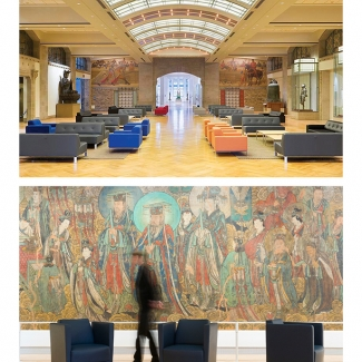 ROYAL ONTARIO MUSEUM. FURNITURE MANUFACTURED BY NIENKAMPER.