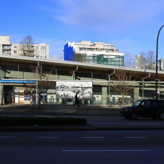 Krista Jahnke's final piece at the Olympic Village Skytrain Station