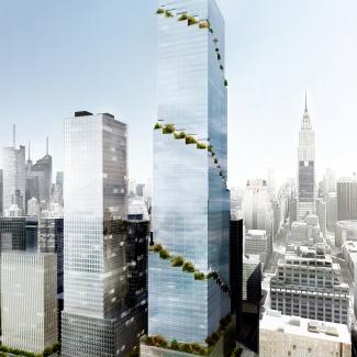 Immeuble de bureaux en spirale