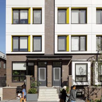 Maisons en rangée d'Alexandra Park, élévation