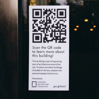 QR Code self-guided architectural tour