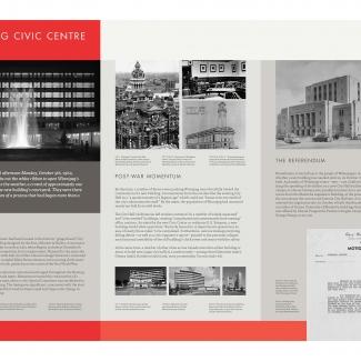 Exhibit panel: Winnipeg Civic Centre