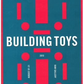 Affiche d'une exposition de jouets de construction