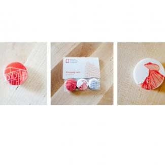 Macarons représentant des bâtiments de Winnipeg