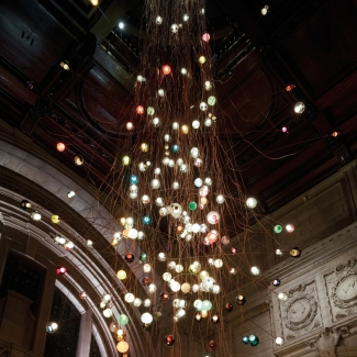 Light installation at the Victoria and Albert Museum, London, UK. 2013
