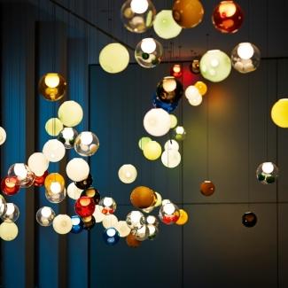 Installation lumineuse au Deutsche Gesetzliche Unfallversicherung, Berlin, Allemagne. 2014