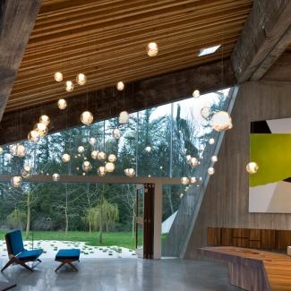 Luminaire dans une résidence privée, White Rock, Canada. 2010