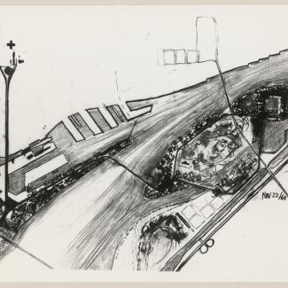 Sketch for Canadian World Exhibition, Expo '67, Montreal, Québec 22 Nov 1963.