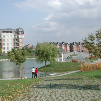 De la Brunante Basin in the Bois-Franc residential development in Saint-Laurent 	Borough of Saint-Laurent