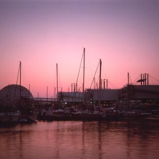 Cinesphere at dusk.