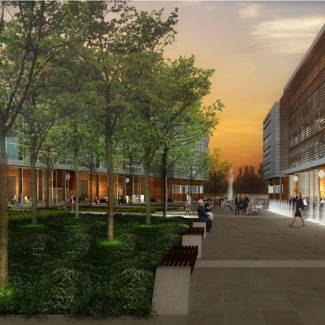 Conceptual image of the future Éco-campus Hubert Reeves