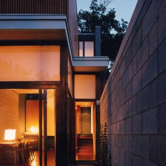 Laneway House - Night Exterior